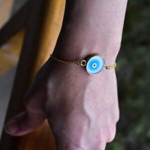 دستبند رزین چشم و نظر