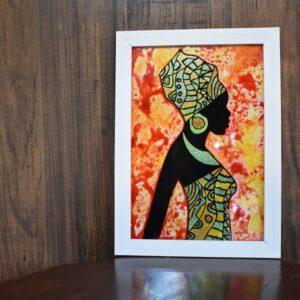تابلو ویترای زن سیاه پوست