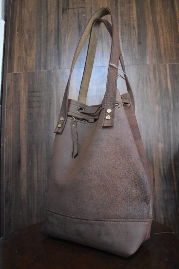کیف چرم استوانه ایی