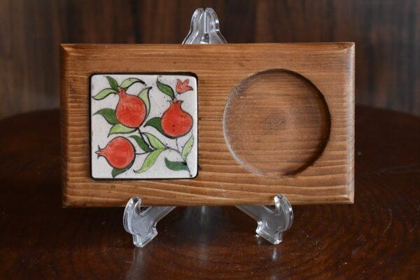 زیر لیوانی چوبی