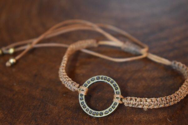 دستبند ظریف طرح حلقه