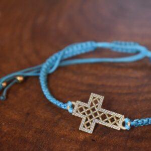 دستبند ظریف طرح صلیب