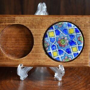 زیر لیوانی چوبی طرح گرد